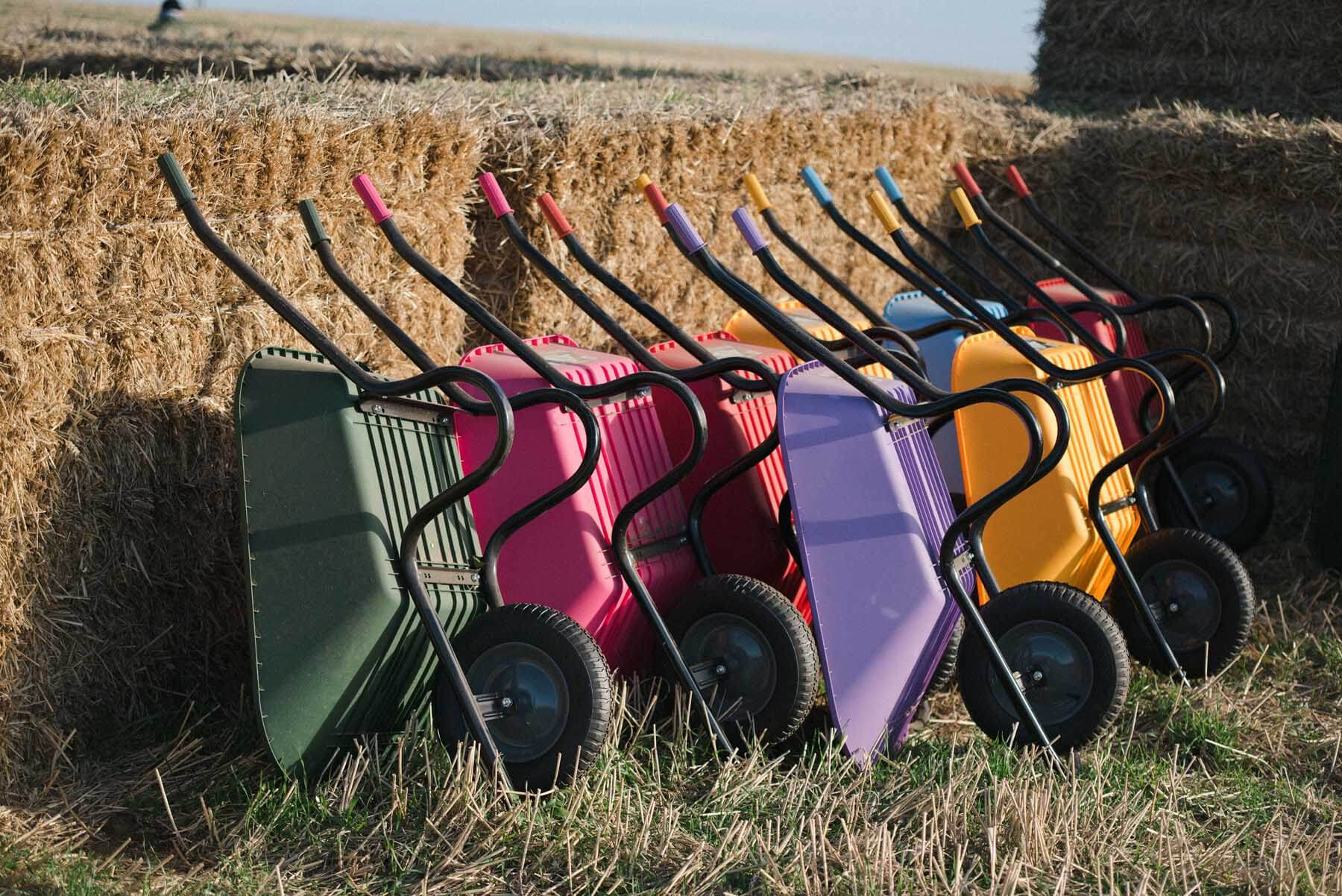 Wheelbarrows at Kilduff East Lothian