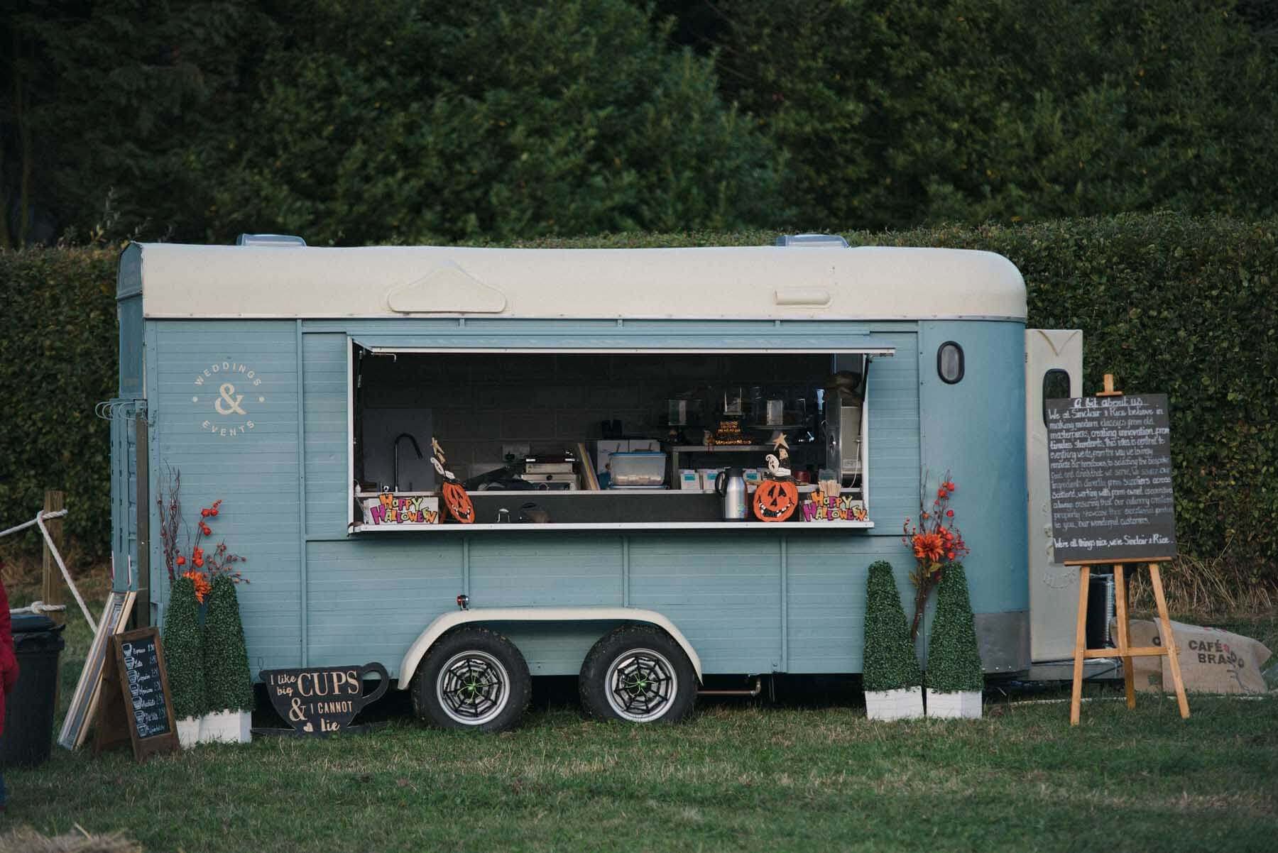 Food Truck at Kilduff Pumpkin Patch East Lothian
