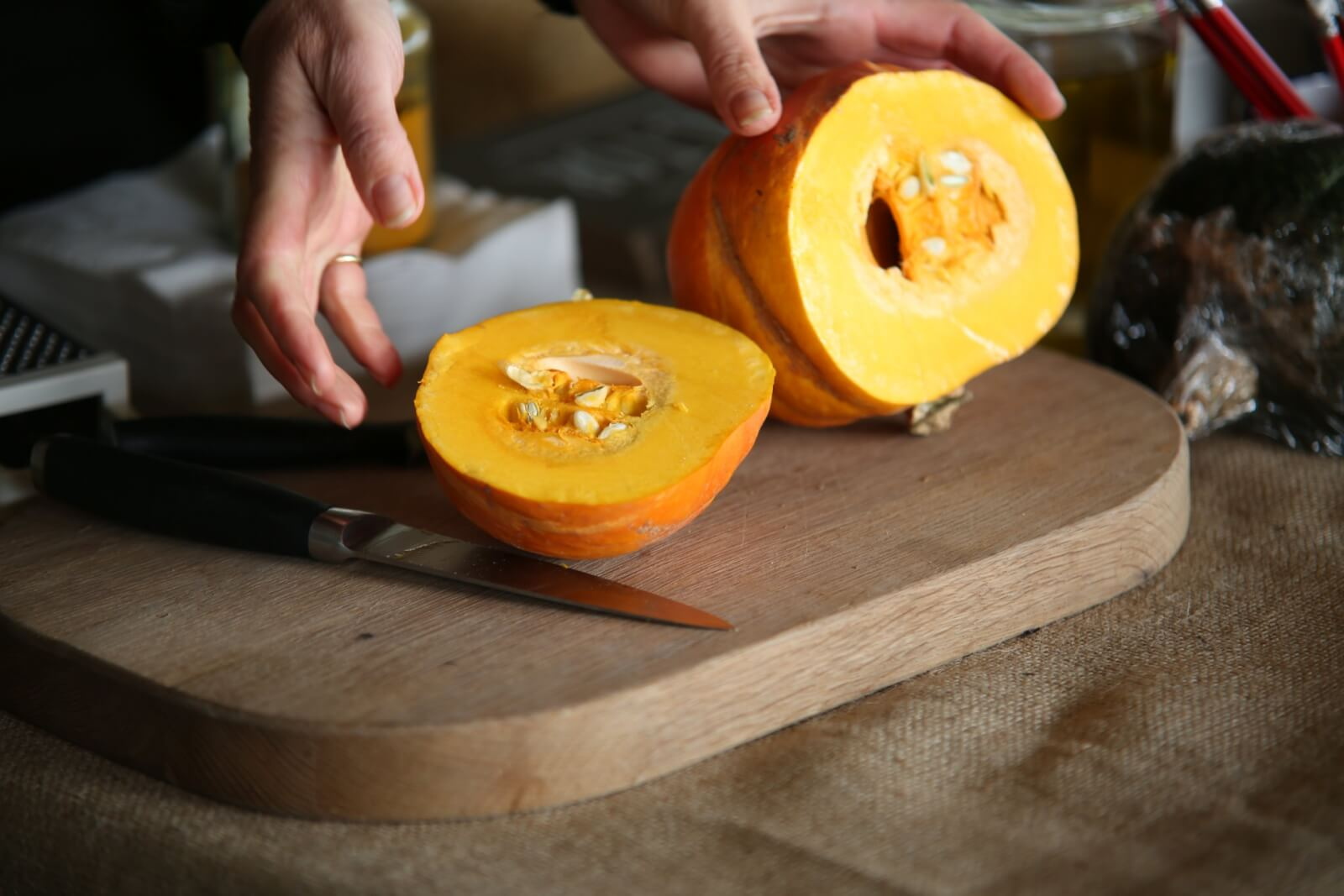 Perfectly sliced Pumpkins from our East Lothian Pumpkin Patch